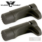 "Wilson Combat 1911 MAG RELEASE 2-PACK Tactical 1/16"" Extended 31T BLACK"