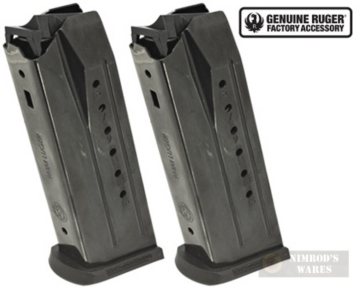 Ruger SECURITY-9 (Also PC Carbine w/ SR9 or Security-9 Mag Well Insert) 9mm  15 Round MAGAZINE 2-PACK 90637
