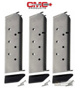 Chip McCormick 1911 45ACP 8 Round Mil-Spec Magazine 3-PACK w/Pads 14141