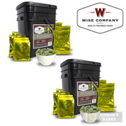 WISE Emergency VEGETABLES & SAUCES 2-PACK 120 Servings Each 25-yrs SURVIVAL 40-60120