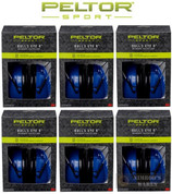 PELTOR Sport Bull's Eye 9 EAR MUFFS 6-PACK NRR 25 dB 97007