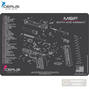 "Cerus S&W M&P Schematic ProMAT Bench MAT 12"" x 17"" HM-SW-MP-SCH-PNK"