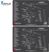 "Cerus S&W M&P Schematic ProMAT Bench MAT 2-PACK 12"" x 17"" HM-SW-MP-SCH-PNK"