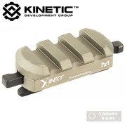 KINETIC Single 3 Slot Easy Detach M-LOK Rail Section KIN5-100-BRN