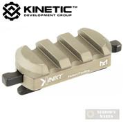 KINETIC Single 3 Slot Easy Detach M-LOK Rail Section KIN5-100-BRN