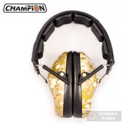 CHAMPION Slim Ear MUFFS Passive 21dB DESERT CAMO 42915