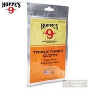 Hoppe's TRIPLE THREAT CLOTH Clean Shine Deodorize Resealable 1130