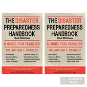 """The DISASTER PREPAREDNESS Handbook"" 2-PACK Emergency Survival Prep 44380"