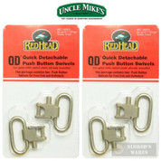 "Uncle Mike's Red Head QD Sling Swivels 4-PACK 1"" Nickel 14052"
