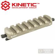 KINETIC Double 7-Slot Easy Detach MLOK Rail Section KIN5-200-BRN