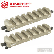 KINETIC Double 7-Slot Easy Detach MLOK Rail Section 2-PACK KIN5-200-BRN
