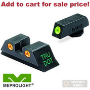 Meprolight Night SIGHTS SET GLOCK 20 21 29 30 36 41 Green/Orange ML-10222O - Add to cart for sale price!