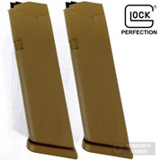 GLOCK 19 G19X 9mm 10 Round MAGAZINE 2-PACK Coyote Brown 47489
