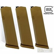 GLOCK 19 G19X 9mm 10 Round MAGAZINE 3-PACK Coyote Brown 47489