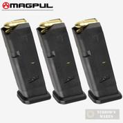 MAGPUL 10 GL9-G17 GLOCK 9mm 10 Round MAGAZINE 3-PACK MAG801-BLK
