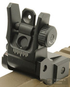 UTG Low Profile Flip-up REAR SIGHT w/ Dual Aiming Aperture MNT-955 - New Out of Packaging