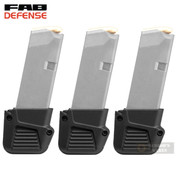 FAB Defense GLOCK 43 G43 PLUS 4 Mag EXTENSION 3-PACK FX-4310B