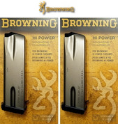 Browning HI-POWER .40 SW 10 Round MAGAZINE 2-PACK + Rubber BASE PADS 112051194