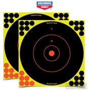 """Birchwood 34022 Shoot-N-C 12"""" TARGET X 24Pk w/ 576 Pasters"""