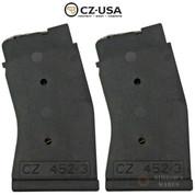 CZ 452 453 .17 HMR 10 Round MAGAZINE 2-PACK 12015