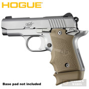 Hogue KIMBER Micro 9 GRIP Finger Grooves Ambi Rubber 39083 FDE - Add to cart for sale price!