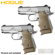 Hogue KIMBER MICRO 9 Extended BASE PAD 2-PACK for 7rd Mag Rubber 39033 FDE