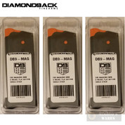 Diamondback DB9 9mm 6 Round MAGAZINE 3-PACK Flat Bottom Plate DB9-MAG