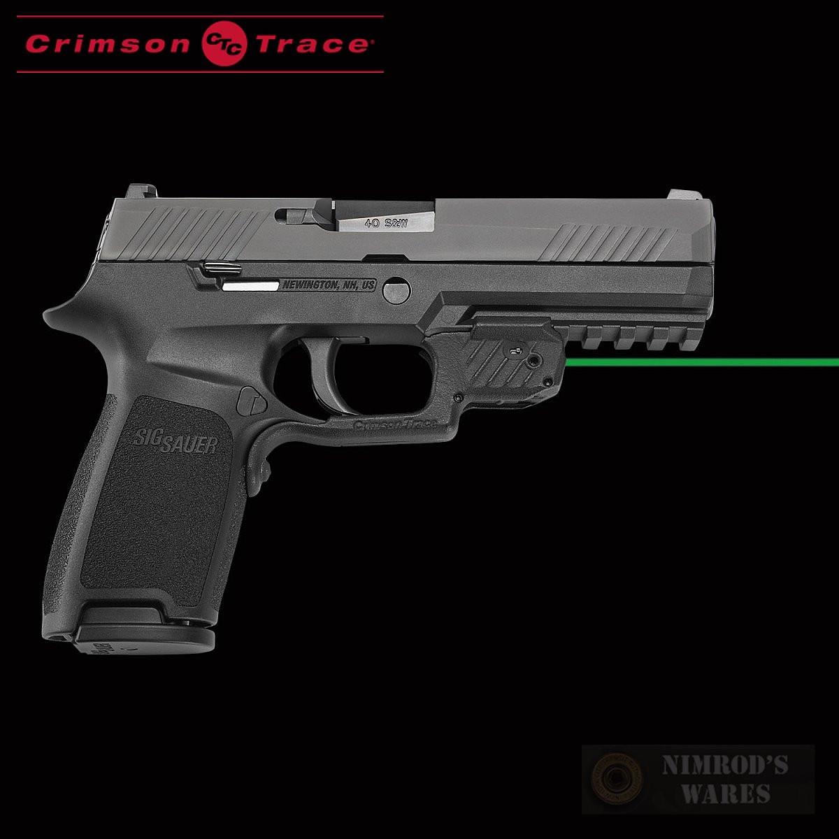 Crimson Trace SIG SAUER P320 M17 M18 Laserguard GREEN SIGHT LG-420G