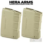 HERA H1 Gen 2 AR-15 M4 Magazine 2-PACK 5.56 .223 10 ROUNDS Tan 13.13.T