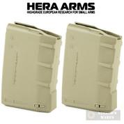HERA H1 Gen 2 AR-15 M4 Magazine 2-PACK 5.56 .223 10 ROUNDS Tan 13.13.T