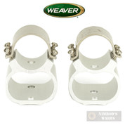 "Weaver RUGER 10/22 Scope Rings See-Thru 1"" Steel Lock Silver 49734"