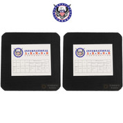 "International Armor Level III Titanium/Steel ARMOR PLATE 2-PACK 6""x6"" 7.62mm .308 Multi-Hit 2.2 lbs IA0035S-6X6"