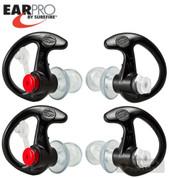 Surefire EarPro EAR PLUGS 2-PACK EP3 Sonic Defender 24dB LG EP3-BK-LPR