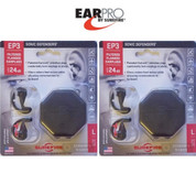 Surefire EarPro EAR PLUGS 2-PACK EP3 Sonic Defender 24dB LG EP3-BK-LPR