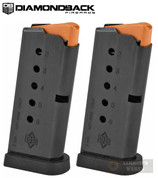 Diamondback DB9 GEN 4 9mm 6 Round MAGAZINE 2-PACK Flat Bottom Plate DB9-MAGG4