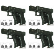 Pearce Grip PG-19 4-PACK GLOCK Mid/Full-Size Contoured Grip Extensions