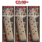 Chip McCormick 1911 .45 ACP 8 Round RAILED POWER MAGAZINE 3-PACK 17130