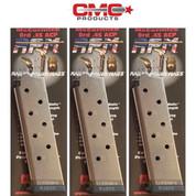 Chip McCormick 1911 .45 ACP 8 Round RAILED POWER MAGAZINE 3-PACK 17130