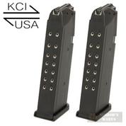 KCI Glock 17 19 26 34 9mm 17 Round MAGAZINE 2-PACK KCI-MZ007
