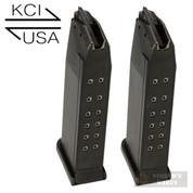 KCI Glock 19 26 34 9mm 15 Round MAGAZINE 2-PACK KCI-MZ009