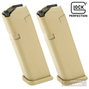 GLOCK 17 19X 34 9mm 17 Round MAGAZINE 2-PACK Coyote 47487