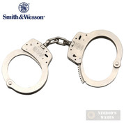 S&W M100 HANDCUFFS Nickel-Plated Carbon Steel 2 Keys 350103