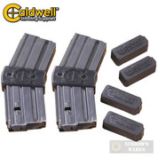 CALDWELL 10 Round AR-15 .223 / 5.56 Magazine COUPLER  4-pk + 4 Covers 390504