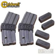 CALDWELL 10 Round AR-15 .223 / 5.56 Magazine COUPLER  4-pk + 4 Covers 390504