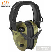 WALKER's RAZOR SLIM Shooter Low Profile EARMUFFS 23dB MultiCam CAMO GWP-RSEM-MCC