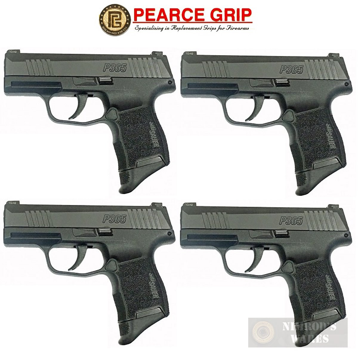 Pearce Grip SIG SAUER P365 GRIP EXTENSION 4-PACK 5/8