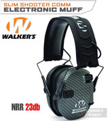 WALKER's RAZOR SLIM Shooter Low Profile EARMUFFS 23dB CARBON GWP-RSEM-CARB