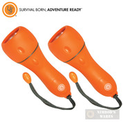 UST FLOATING FLASHLIGHT 2-PACK Runs 26 hrs WaterProof Survival Prepper 20-02135-08