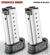 Springfield XD-S 9mm 8 Round MAGAZINE 2-PACK w/ GRAY X-Tensions (BULK) XDS0908Y