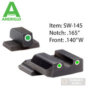 AmeriGlo S&W M&P SHIELD Night SIGHTS SET Classic SW-145